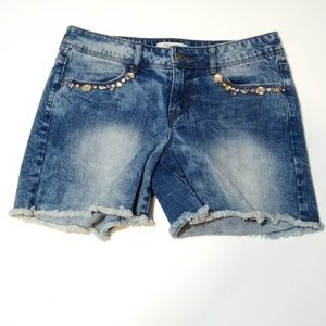 🍁Forever 21 denim jeweled short shorts
